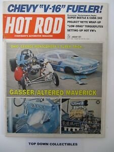 Hot Rod Magazine    January  1971  Buster Couch: The Button Man Profile