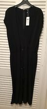 EILEEN FISHER - Black Crepe Short Sleeve Jumpsuit - NWT - Size XL