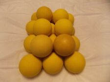 18 Used Practice Lacrosse Balls all Yellow ChamPro/Champion Brand *Free Ship*