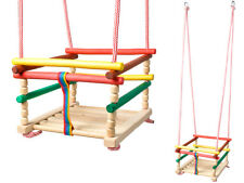 Kinderschaukel Holz Babyschaukel Gitterschaukel In & Outdoor zum Aufhängen #6248