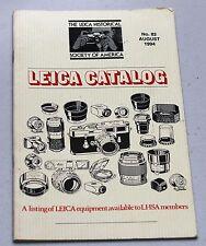 LEICA Magazine Photographic Equipment Retail Price List Book Brochure #82 1994