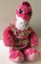 Build A Bear Dinosaur Apatosaurus Brontosaurus Pink Girl Stuffed Plush Dressed