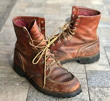 Vintage Red Wing Irish Setter Brown Leather Work Boots Men's Size 9