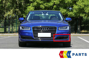 NEW GENUINE AUDI A8 S8 2014-2016 FRONT BUMPER GRILL BLACK LEFT N/S 4H0807679RT94