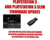 PS3 UPDATE INSTALL USB FLASH DRIVE PLUG IN LATEST OFFICIAL SONY FIRMWARE FW OFW