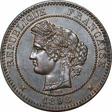 O295 Rare 10 Centimes Cérès 1898 A Paris SUP SPLENDIDE > Faire offre