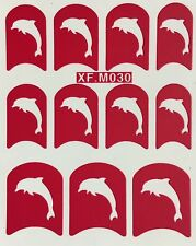 Nail Art Decal Stencil Stickers Dolphins XF.M030