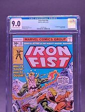 🔥IRON FIST #14 🔑 1ST APPEARANCE SABRETOOTH🔥💎CGC 9.0 OW/W💎