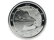 2$ Dollaro Eastern Caribbean 8 EC8 Nature The Isle Dominica 1 Oncia D'Argento