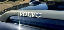 Volvo Text and Badge Vehicle Decal Roof Bar Pair