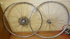 Vintage Rigida Eyeleted Maillard Helicomatic Bicycle Wheel set 6spd 27""