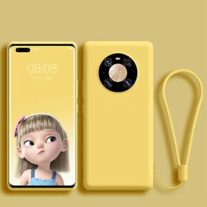 Soft liquid silicone Case For Huawei Y5P Y6P Y7P Y8S Y9A Shockproof Back Cover