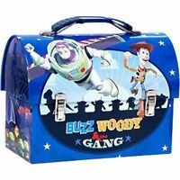 Tin Toolbox Lunch Snack Toy Carrier TOY STORY Woody Buzz Friends Blue NEW