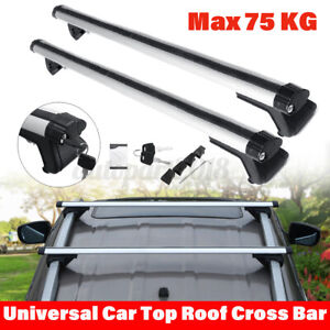 125cm Universal Aluminum Car Top Roof Rail Luggage Rack CrossBar Baggage Carrier