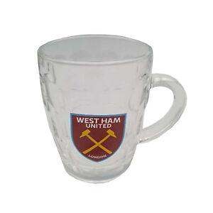 West Ham United FC Glass Mug  50% Off Original Retail Price! RRP £15