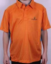 NEW JUNIOR STUBURT GOLF POLO T-SHIRT TOP ORANGE/BLUE LARGE BOYS