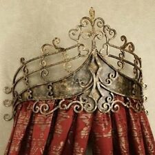 Victorian Scroll Wrought Iron Bed Crown | Baroque Tester Metal
