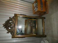 Hand Carved Wood Victorian Wall Mirror