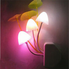 Creative Cool Color Changing LED Mushroom Night Light Bed Wall Lamp Illumination