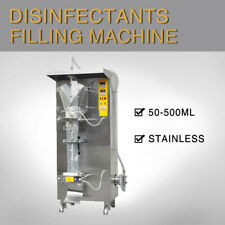110V 50-500ml Automatic Sachet Disinfectants Filling Machine for 75% Alcohol