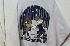 Vintage 1993 Georgetown Hoyas Looney Tunes Front Back Sweat Shirt,Xl,Rare,90s
