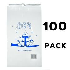 Alpine Industries 10 lb Commercial Ice Bag with Cotton Drawstring, 100 Pack