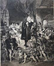 Naissance d' Henri IV après Deveria par Ramus Pau Bourbon Navarre sur Parchemin