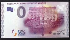 Billet fauté 0 euro souvenir Monaco 2015 Etoiles masquées, massicotage en biais