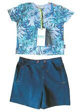 Ted Baker Baby Boy T Shirt Top Jungle Beach Blue Shorts Designer 3-6 Months