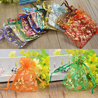 20pcs/set Organza Jewelry Wedding Gift Pouch Bags 7x9cm 3X4 Inch Mix Color