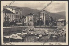 VERBANIA STRESA 166 TRENO - PASTICCERIA ACUTI - ALBERGO D'ITALIA viaggiata 1929