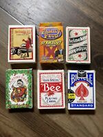 playing cards lot of 6 some new