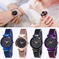 Luxury Women Starry Sky Watch Magnet Strap Buckle Female Fashion Tik Tok Watch