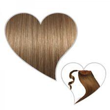 queue de cheval Postiche 50 cm blond Caramel #14 Cheveux véritables TRESSE