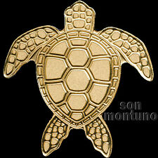 24K GOLD SEA TURTLE - 1/2 Half Gram 14mm $1 Dollar Coin in Capsule + COA - PALAU