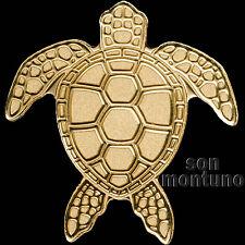 24K GOLD SEA TURTLE - 1/2 Half Gram 14mm $1 Dollar Coin in Capsule + COA - PALAU