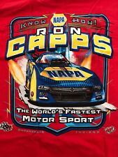 "NHRA DRAG RACING ""NAPA KNOW HOW"" RON CAPPS T- SHIRT  SIZE SMALL"