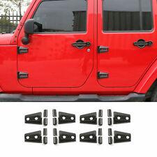 For Jeep Wrangler Jk Jku Door Hinge Cover Protector Exterior Parts Carbon Fiber Fits Jeep Wrangler Unlimited