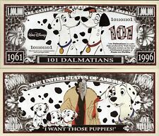 101 Dalmatians - Disney Movie Characters Million Dollar Novelty Money