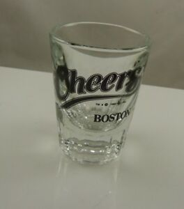 Cheers Boston oversize shot glass 3 inch tall x 1 1/ 2  -  2 inch 1993 Par. Pic.