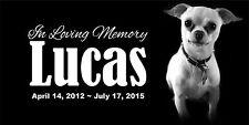 Personalized Pet Stone Memorial Grave Marker 6x12 plaque Dog Cat Horse 2017