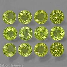 8mm corte redondo Cabochon Natural Verde Peridoto Piedra Preciosa Gema