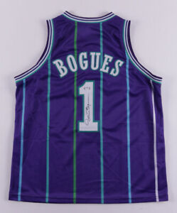 Muggsy Bogues Signed Charlotte Hornets Jersey (PSA COA) 1987 1st Round Draft Pck