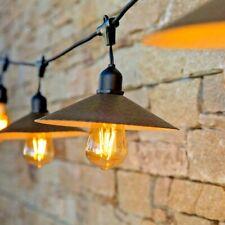 Catenaria di 10 luci da esterno per giardino in stile rustico o vintage