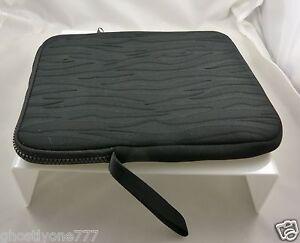 Tablet portfolio fits Ipad  iPad  2  ipad2 ipad3 black cushioned protect sleeve