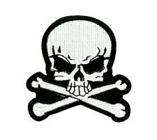Patch ecusson brodé  backpack tete de mort skull moto thermocollant R3