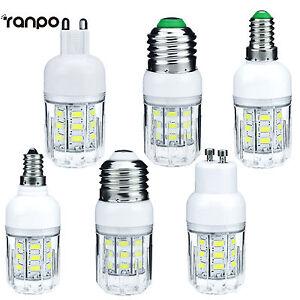 E27 E12 E26 E14 G9 GU10 7W LED Corn Bulb Light 5730 SMD Lamp 12V 24V 110V 220V