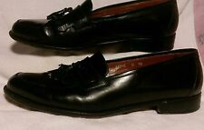 Bruno Magli Dress Shoes Mens 10 M Black Tassle Loafer  Made in Italy