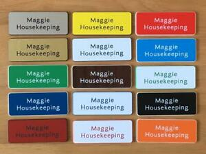 Engraved  Personalised staff name badges, shop clubs pub school office-