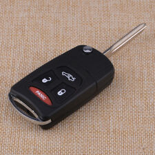 Flip Remote Key 4-BTN Shell Case FOB For Chrysler 300C Dodge Ram Jeep Mitsubishi